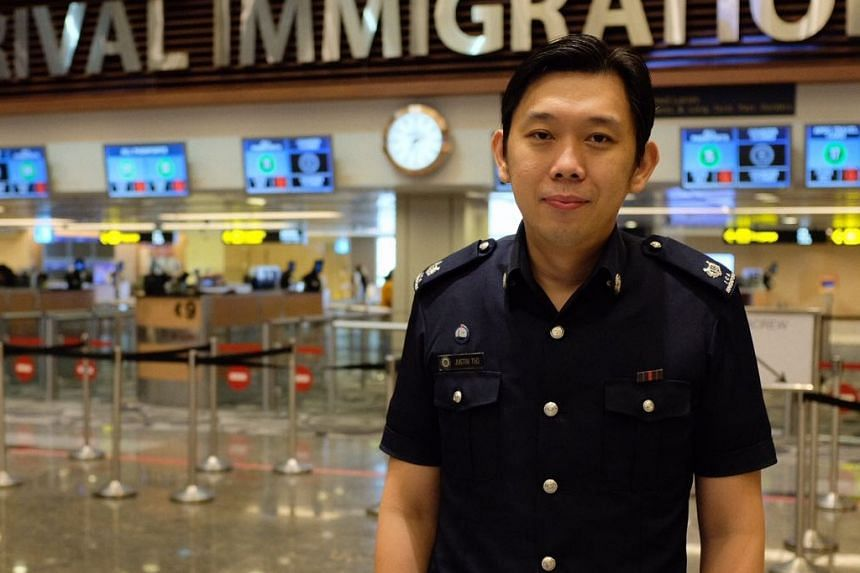 ASP Justin Teo helped get a pregnant Thai woman experiencing labour pains through immigration quickly and got her medical help.