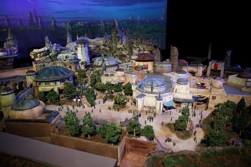 The Star Wars lands 3-D model is unveiled ahead of the D23 Expo in Anaheim, California, on July 13, 2017.
