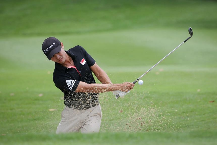 Singapore's Gregory Foo playing in the Putra Cup at the Tanah Merah Country Club's Garden Course on Sept 8, 2016.