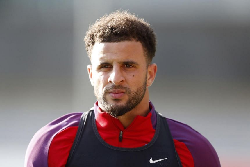 England's Kyle Walker during traning at St. George's Park on June 6, 2017.