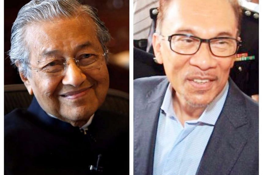 The four parties grouped under the Pakatan Harapan alliance has named Anwar Ibrahim (right) as its de-facto leader. Dr Mahathir Mohamad is chairman of the alliance.