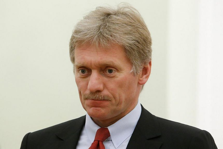 Kremlin spokesman Dmitry Peskov attends a meeting of Russia's President Vladimir Putin with his Macedonian counterpart Gjorge Ivanov at the Kremlin in Moscow, Russia on May 24, 2017.