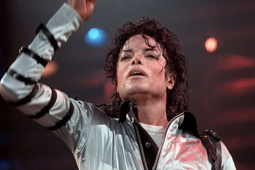 The late pop star Michael Jackson performing at a concert in Paris in 1988.
