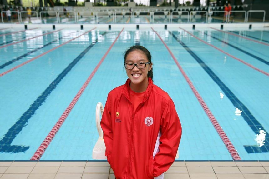 Lauren Chew won gold for the 50m girls' breaststroke in the Asean Schools Games swimming competition at Singapore Sports School, on July 15, 2017.
