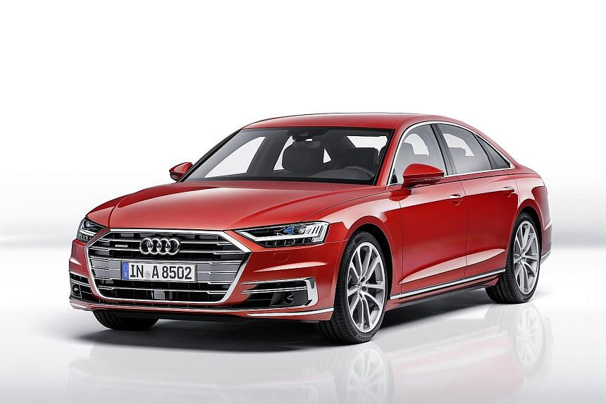 Audi's new A8 (above).