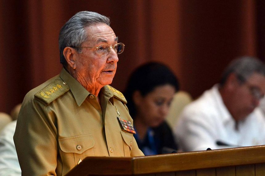Cuban President Raul Castro gives a speech during the first ordinary meeting of the National Assembly of People's Power (unicameral Parliament), in Havana, Cuba on July 14, 2017.