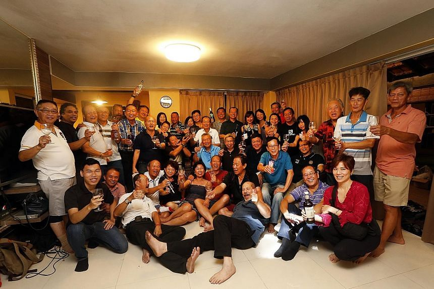 The former commandos, some with their spouses and family members, turned up for a dinner at the National Service Resort and Country Club yesterday to mark the 44th anniversary of their enlistment. Some of the national servicemen that enlisted 44 year