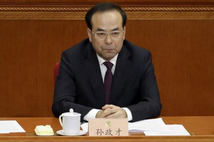 Chongqing Municipality Communist Party Secretary Sun Zhengcai attends the opening session of the Chinese People's Political Consultative Conference (CPPCC) at the Great Hall of the People in Beijing, China on March 3, 2016.