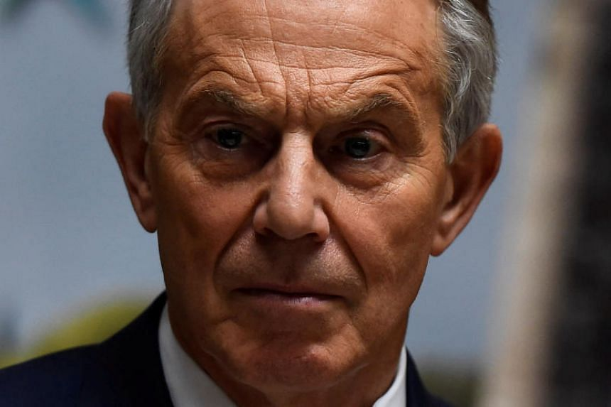 Britain's former Prime Minister Tony Blair attends a meeting of the European People's Party in Wicklow, Ireland, May 12, 2017.