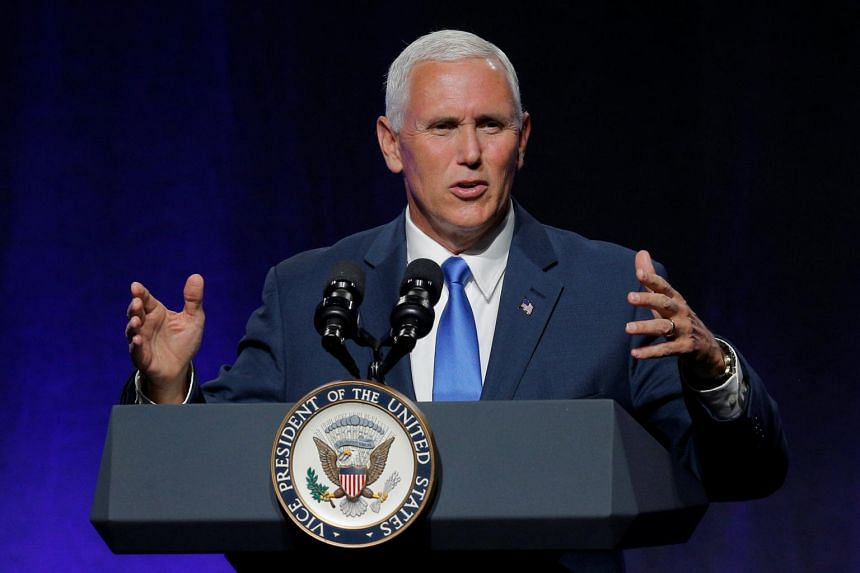United States Vice President Mike Pence addresses the National Governors Association summer meeting in Providence, Rhode Island, US on July 14, 2017.