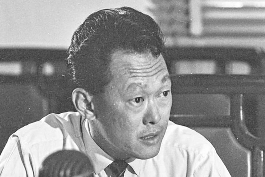 Singapore's first prime minister Lee Kuan Yew speaking at a press conference announcing the nation's separation from Malaysia in 1965.