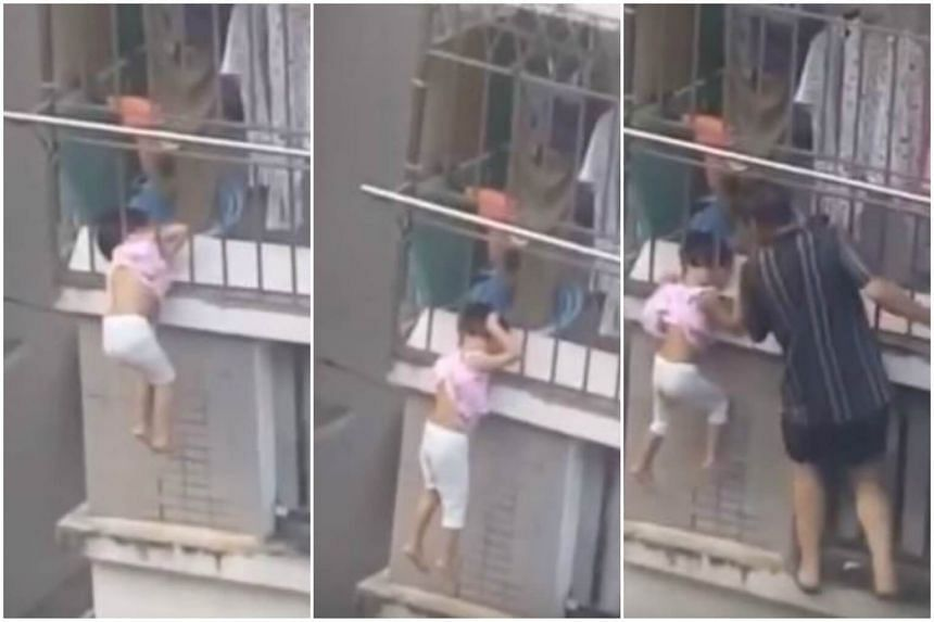 The incident, which occurred in Fujian's Fuzhou city, drew praise from netizens for the neighbour's efforts.