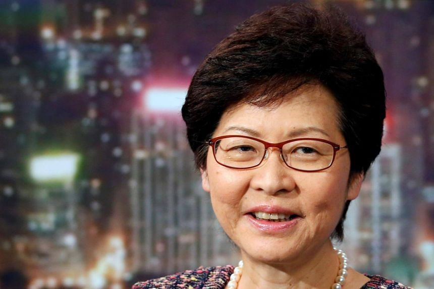 Hong Kong Chief Executive Carrie Lam attends an interview with Reuters in Hong Kong, China, on July 14, 2017.