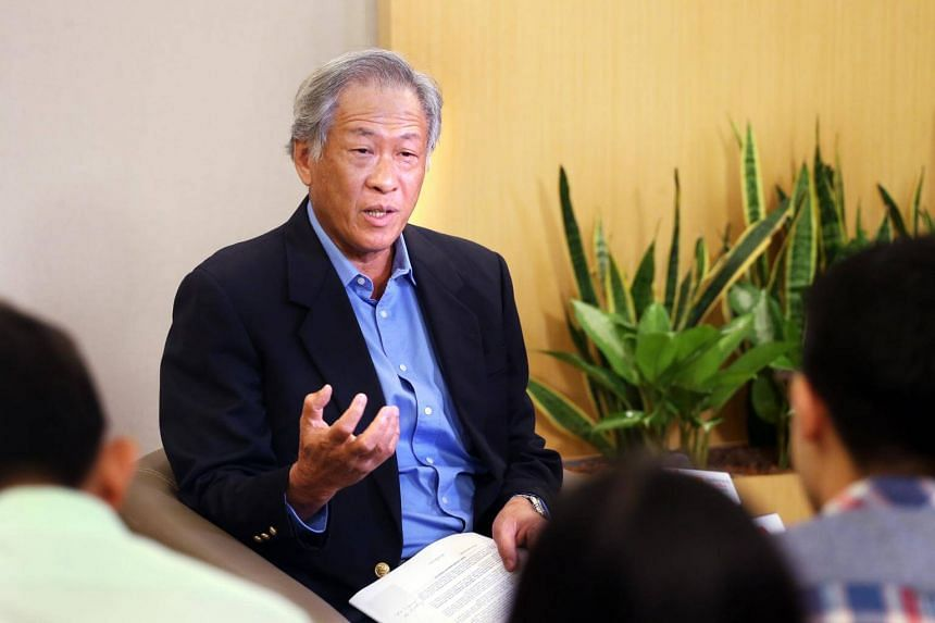 Minister for Defence Dr Ng Eng Hen speaking during his annual SAF Day interview on June 27, 2017.