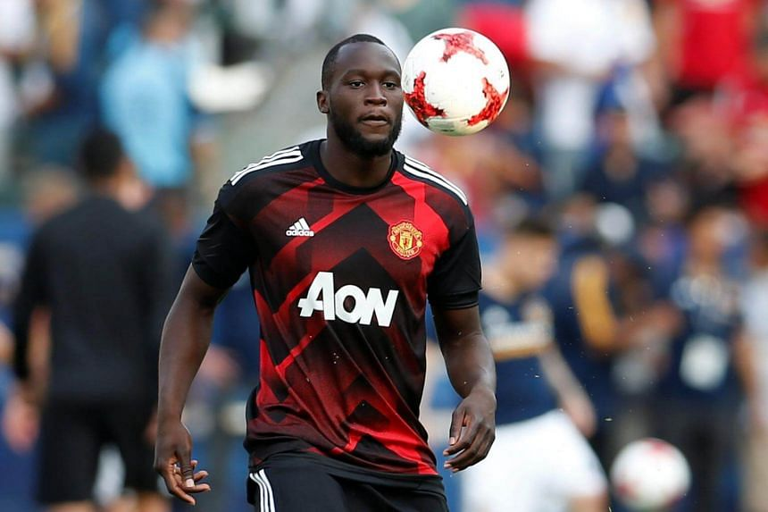 Manchester United's Romelu Lukaku warms up before the match for the Pre Season Friendly at Los Angeles, on July 15, 2017.