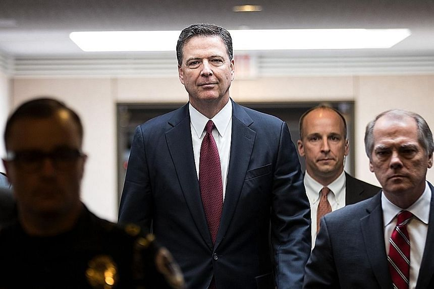 Mr James Comey's book is expected to go on auction this week. All major publishing houses have expressed keen interest.