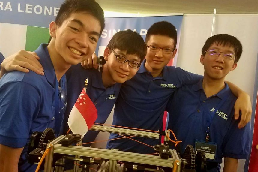 The ACS (I) team: (From left) Isaac Lee, Caven Chia, Aron Choo and Tan Hsien Rong.