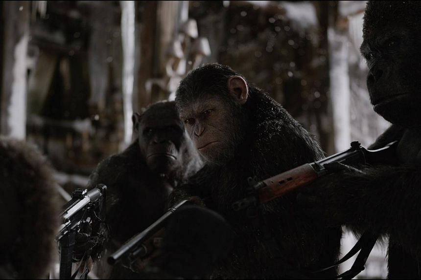 A still from War for the Planet of the Apes.