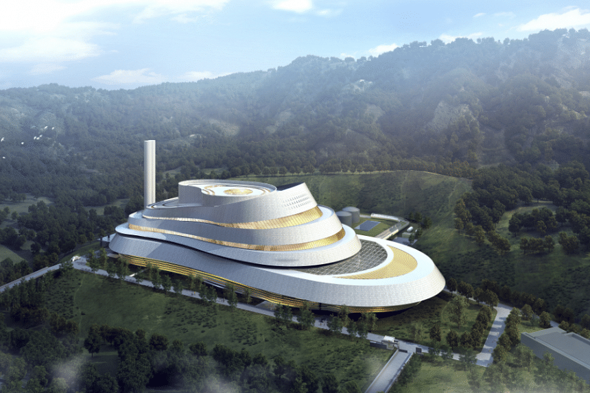 Artist's impression of the Beijing WTE Plant 1, Keppel Seghers' fourth project in the city.