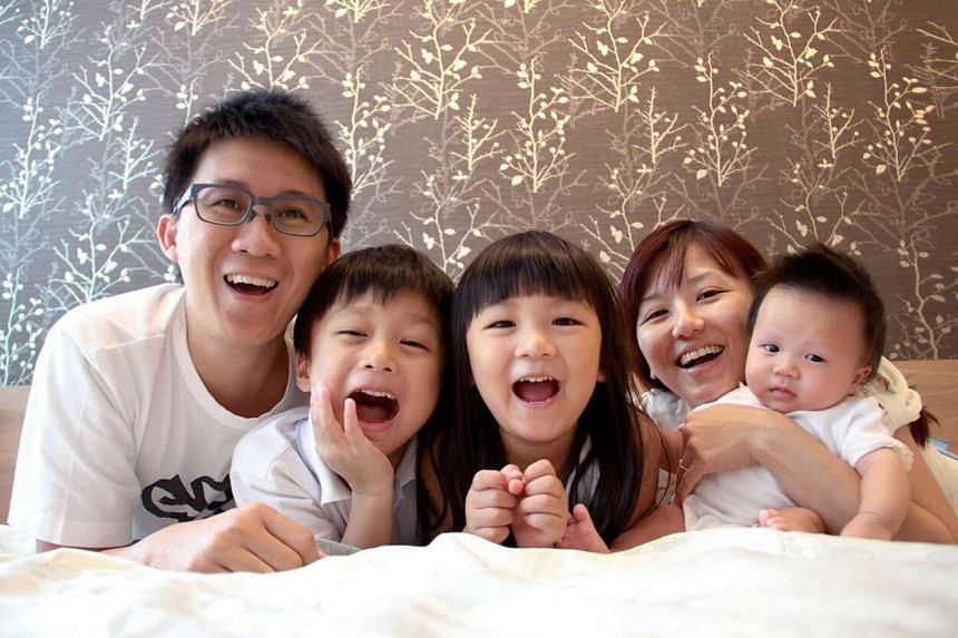 My Life So Far: Mr Cheong and his wife Faith with (from left) their son Seth and daughters Beth and Janneth in 2010.