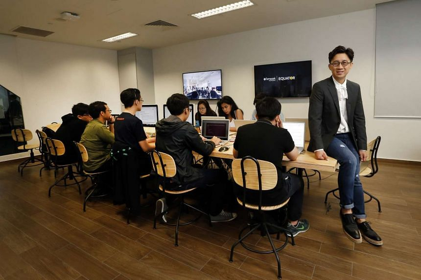 Mr Jeff Cheong at Equator, a satellite office of DDB Worldwide in Temasek Polytechnic set up to train student interns.