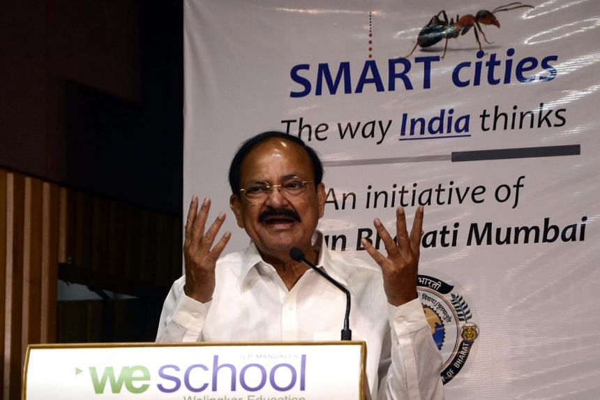 Venkaiah Naidu addressing the audience at a seminar in Mumbai on June 6, 2015
