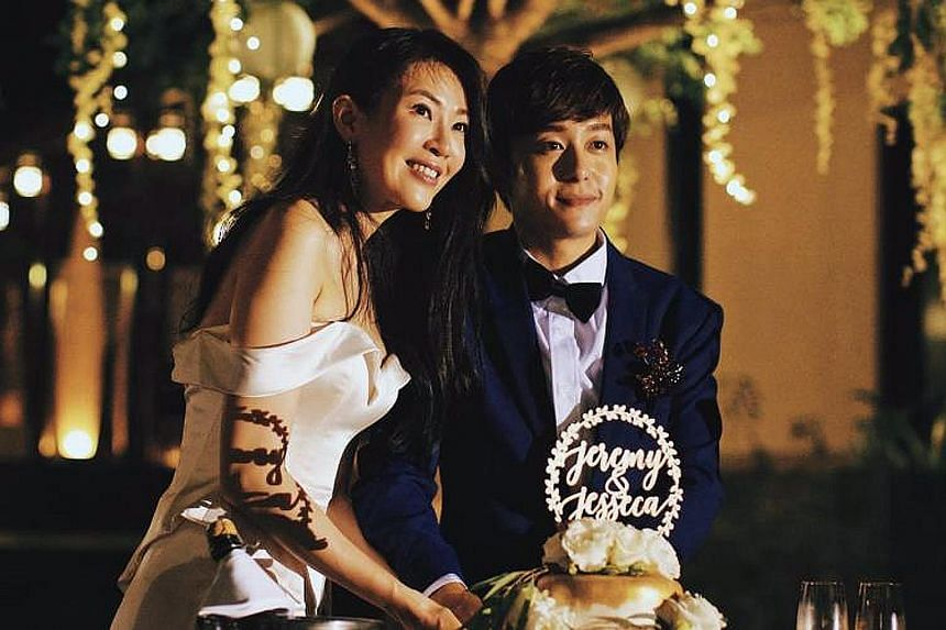 Actress Jesseca Liu and comedian Jeremy Chan got married last Sunday in Langkawi.