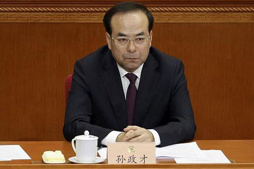 Mr Sun Zhengcai, the Chongqing party boss, was abruptly removed from office last Saturday.
