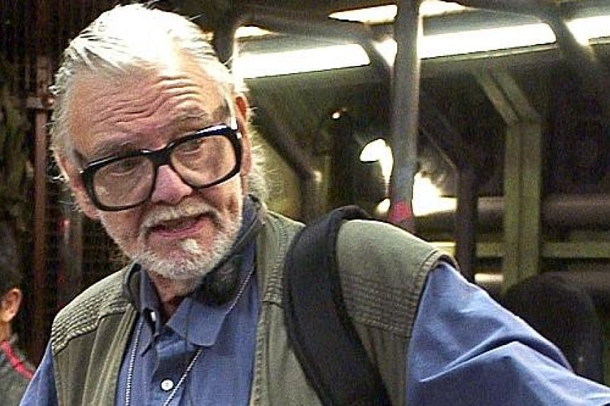 George Romero on the set of Land Of The Dead.