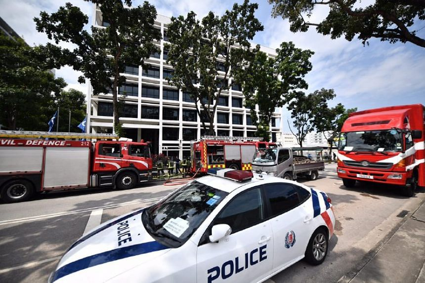 SCDF deployed its resources to the scene.