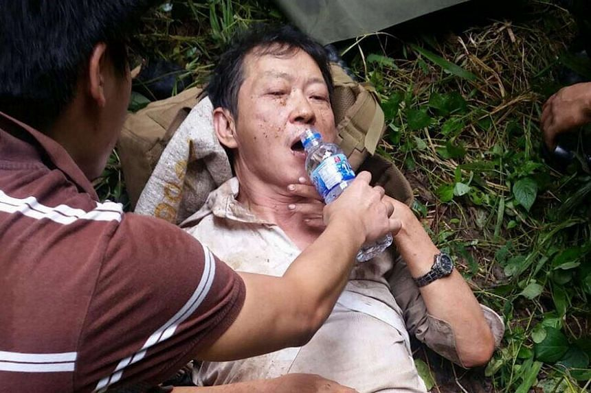 Mr Low Ah Kay was found in the forested area near Kranji Expressway, after he was lost in the jungle for four days.