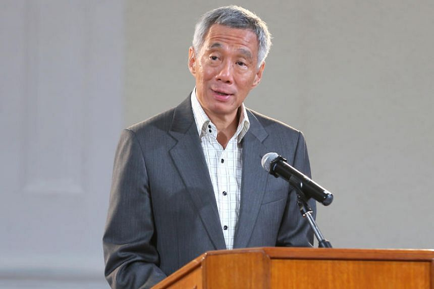 PM Lee Hsien Loong speaking at the launch.