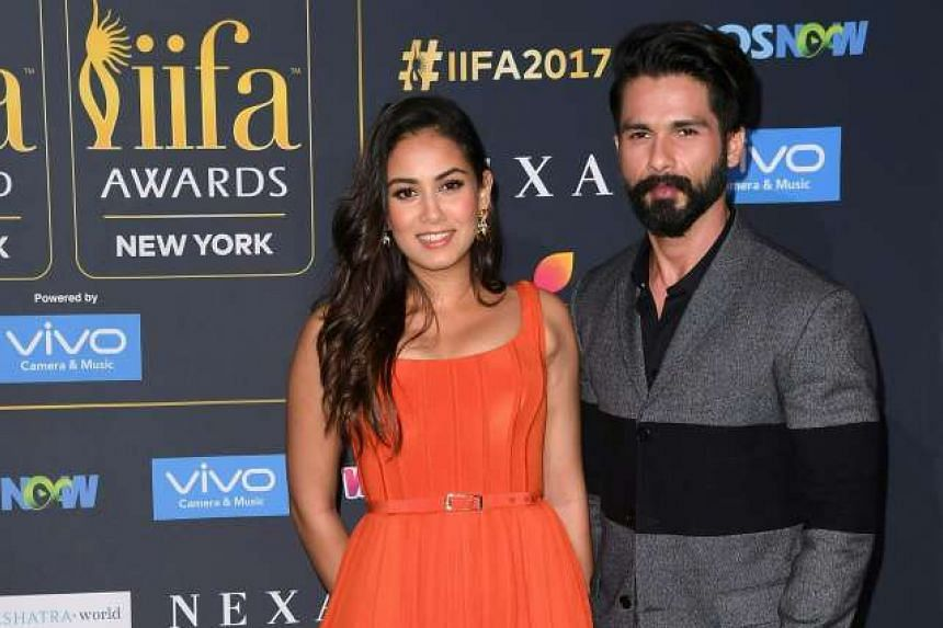 Actor Shahid Kapoor and his wife, Mira Rajput. PHOTO: AGENCE FRANCE-PRESSE