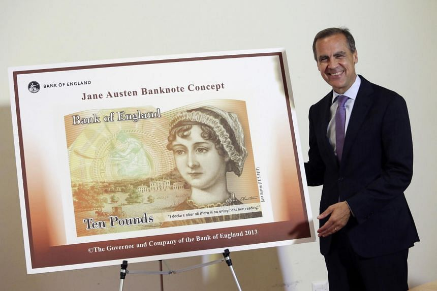 A Bank of England ten pound banknote, featuring author Jane Austen.