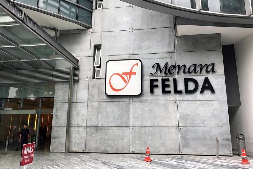 A Felda signage at the Felda headquarters in Kuala Lumpur.