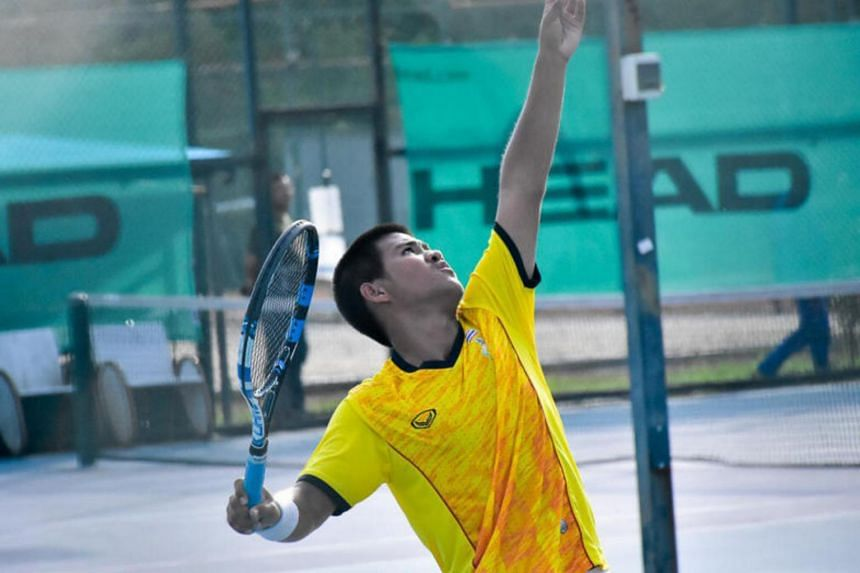 Thailand's Thanapet Chanta, who was part of the Thailand boys' team that won the team title at the Tanglin Academy on Monday (July 17).