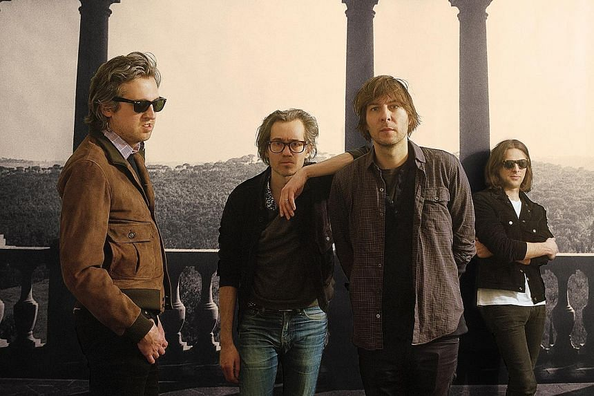 Phoenix, a band from Versailles, France, comprise (from far left) Christian Mazzalai, Laurent Brancowitz, Thomas Mars and Deck d'Arcy.