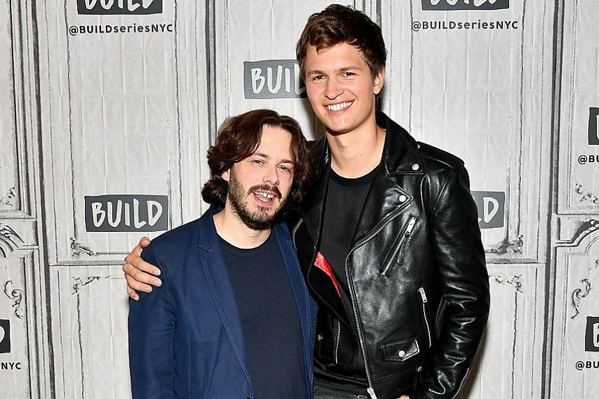 Director Edgar Wright (left) found a fellow music fan in American actor Ansel Elgort, who plays the titular getaway driver in Baby Driver.
