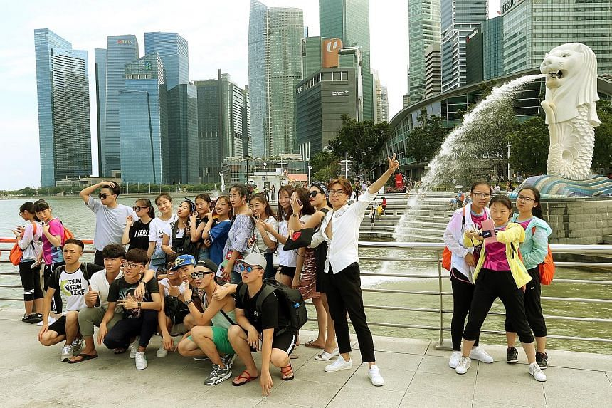 Chinese tourists at Merlion Park. The Hotels.com survey found that when choosing a holiday destination, safety was paramount to Chinese travellers. They also tended to prioritise destinations with historical and heritage value, and those that offer a