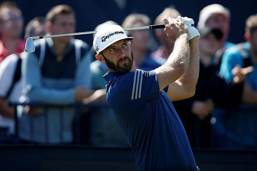 Dustin Johnson practising at Royal Birkdale on Monday. Much is expected of the world No. 1 after he fell and withdrew before the Masters and missed the cut at the US Open.