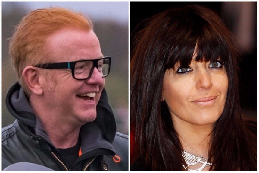 Chris Evans (left) was named the highest-paid person on BBC, while presenter Claudia Winkleman was named the top female earner.