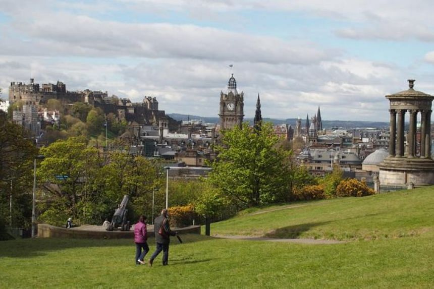 The view of Edinburgh from the Unesco-listed Calton Hill.