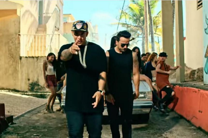 Luis Fonsi & Daddy Yankee in a screenshot from the Despacito music video.
