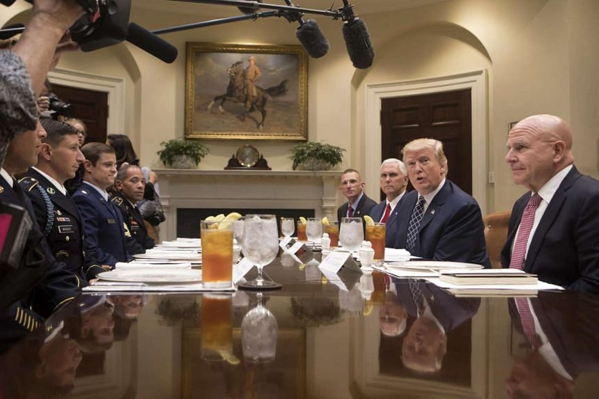 President Donald Trump comments on the apparent failure of the Senate to pass health care legislation, during a luncheon with veterans at the White House in Washington, on July 18, 2017.