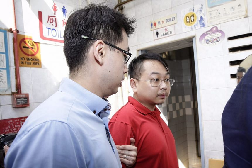 Taiwanese Hsieh Teng-Chia, 30, assisting the police with investigations at San Jiang Eating House on July 19, 2017.