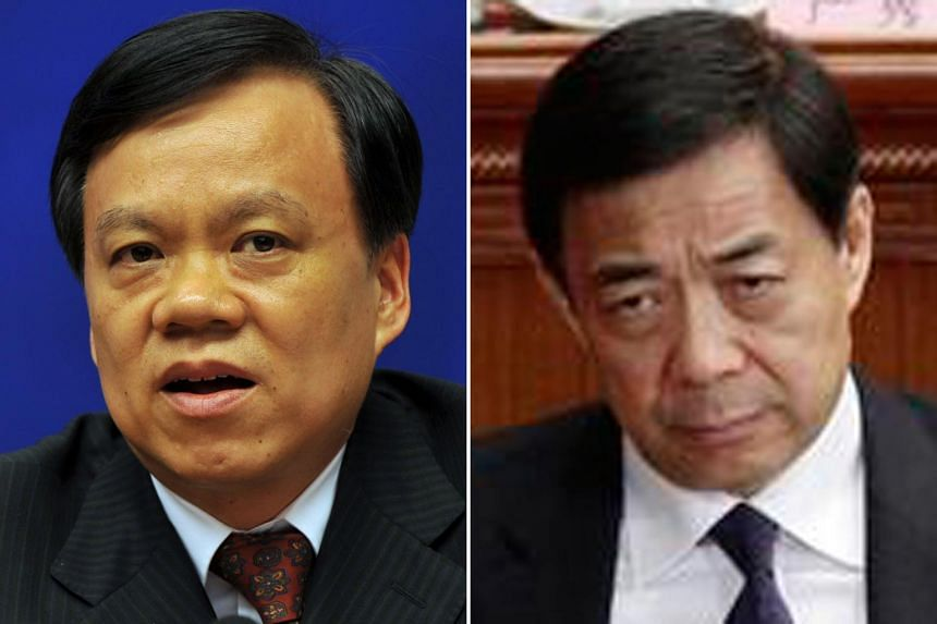 Top: Chongqing's new party boss Chen Min'er is a rising political star and seen as a potential new member of the party's elite Standing Committee. Above: Bo Xilai had been a contender for top leadership before being felled in a corruption scandal tha