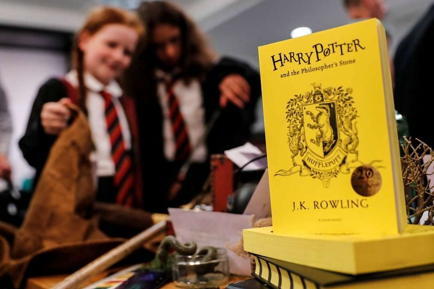 Harry Potter fans attend an anniversary presentation at Waterstones bookshop in London, Britain on June 26, 2017.