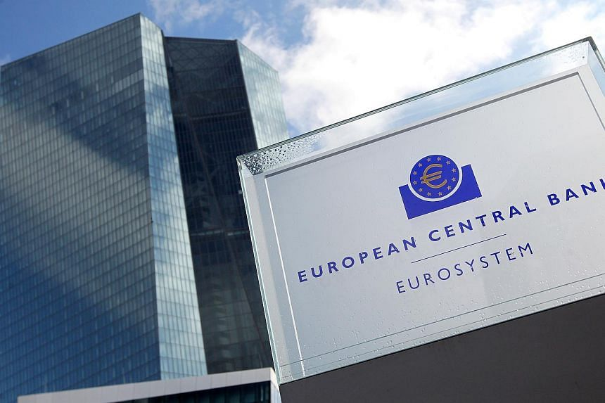 This file photo taken on March 9, 2017 shows the headquarters of the European Central Bank (ECB) in Frankfurt am Main, western Germany.