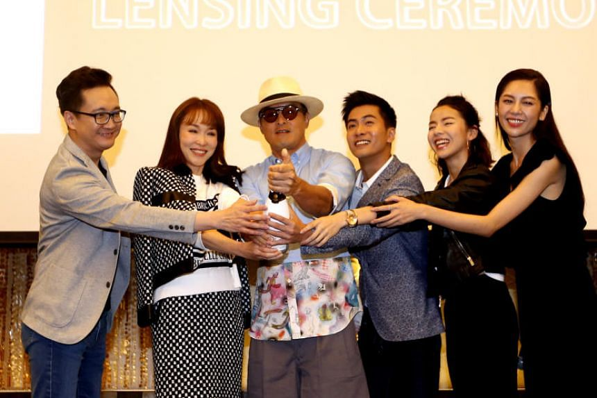 The cast of Doppelganger during the press conference.