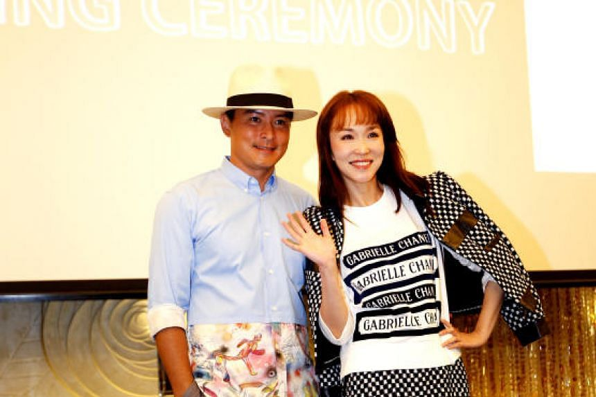 Fann Wong and Christopher Lee during the press conference for their new drama Doppelganger.